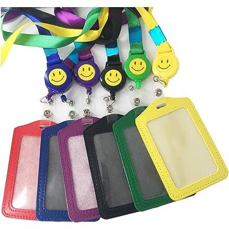 Limeo badge Carte de travail En plastique Porte-badge Titulaire de La Carte D'identité Porte-badge Horizontal Porte-badge D'identification Titulaire de la Carte en Plastique(Un total de 6)