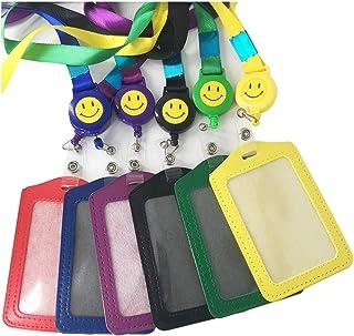 Limeo badge Carte de travail En plastique Porte-badge Titulaire de La Carte D'identité Porte-badge Horizontal Porte-badge ...