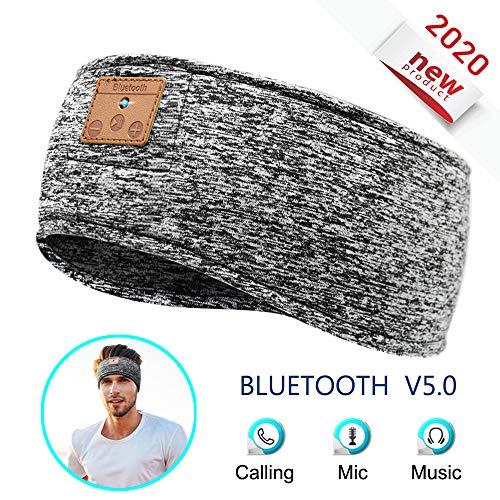 MOITA Sleep Headphones Bluetooth Headband, Wireless Sports Headband Headphones with Ultra-Thin & Soft Sponge Stereo Speakers Headphone Headband for Sleeping, Traveling, Running, Meditation (Grey)