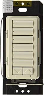 Lutron RRD-HN6BRL-BI Radiora 2 C.L Hybrid Keypad 6-Button with Raise/Lower keypad and 450W/450VA Neutral Wire Dimmer Biscuit