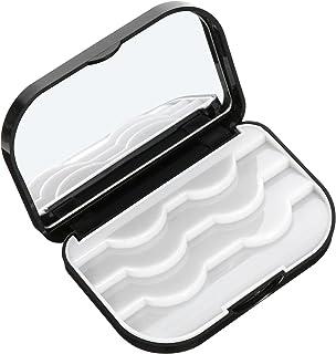 Lurrose 2Pc Vazio Caso De Armazenamento Cílios Caixa de Plástico Falso Lash Maquiagem Com Espelho de Maquilhagem Mulheres ...
