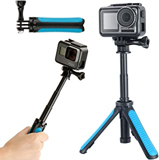 YiLiWit GoPro三脚スタンド 自撮り棒 GoProハンドル 伸縮拡張 一脚 軽量 1/4ネジ付き アクションカメラ 一脚 三脚 Gopro Hero 5, 4, Session, 3+, 3, 2, 1 Cameres, DSLR 及びほとんどのアクションカメラ対応