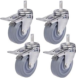 4X Swivel Castor Wheel voor Trolley, Heavy Duty wielen voor meubilair, Trolley bewegende kar werkbank, 75MM/100MM/125MM, (...