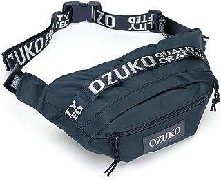 Casual Men's Shoulder Bag Shoulder Messenger Bag Student Sports Men's Chest Bag Messenger Bag QDDSP (Color : Blue)