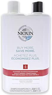 Nioxin System 4 Cleanser Scalp Therapy Conditioner Duo For Unisex 33.8 oz Cleanser Conditioner
