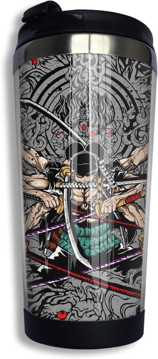 One Piece Samurai Roronoa Zoro Anime Print Award Thermos 3d Cup Miami Mall Coffee