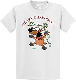 Santa's Funny Reindeer- Christmas Sweatshirts and Tee's
