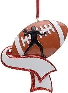 MAXORA Personalized Football Ornament for Christmas Tree Decor - Free Customization