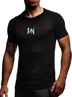 Camiseta para Hombre con Cuello Redondo de Gimnasia Ropa de Deporte LN-8041N