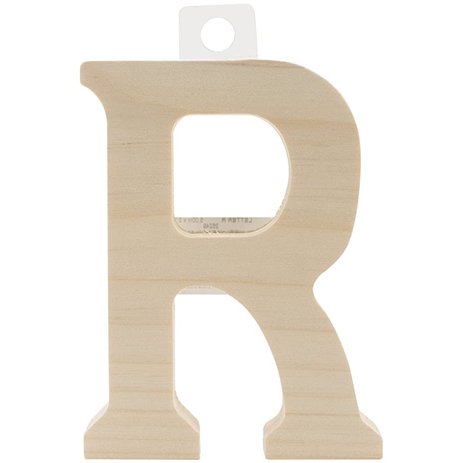 Walnut Hollow Wood Letter, 5 by 0.63-Inch, R
