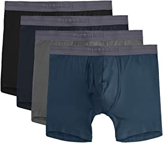 4 Pack Man's Boxer Briefs, Bamboo Rayon Breathable Underwear, Soft Stretch Trunks XXL