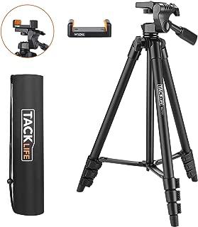 Lightweight Tripod 55-Inch, Aluminum Travel/Camera/Phone Tripod with Carry Bag, Maximum Load Capacity 6.6 LB, 1/4