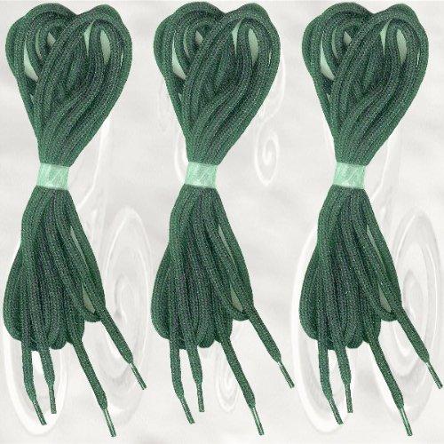 3 Paar Schnürsenkel in grün, rund, 85 cm/Ø 3 mm
