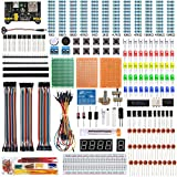 KeeYees 電子工作キット 初心者向け スターターキット 電子部品 基本部品56種類 エレクトロニクス入門キット Electronics Fun Kit Arduino用 Raspberry Pi用 チュートリアルあり