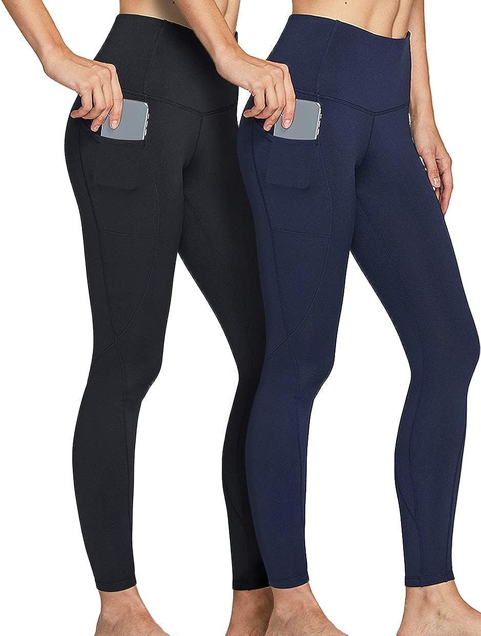 1 year warranty ATHLIO 2 Pack Women's Award-winning store Thermal Yoga High Waist Warm Pants Fleece