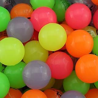 100x Glow in The Dark–Colori Assortiti Bouncy Jet Balls 35mm–Wholesale Bulk Buy