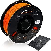 Overture PLA 3D Printer Filament 1-Pack Orange 1.75 1kg x 1