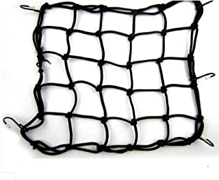"Allpdesky 2 Pack 15""x15"" Mfg Cargo Net Made with Premium Latex Bungee Material, 3""x3"" Mesh and Rubber-Tipped Super Strong Metal Hooks, Black"
