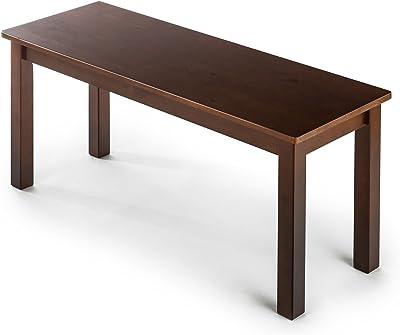 Banc en bois 100 cm ZINUS Juliet | Banc de salle à manger en bois massif espresso | Facile à monter