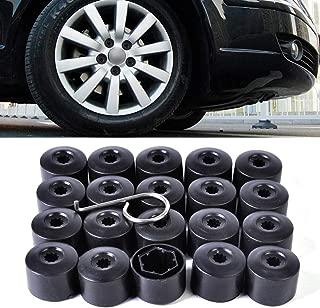 AMZENKA - 20pcs Anti-theft Wheel Lug Bolt Center Nut Covers Caps 1K0601173 3C0601173 for VW Jetta Golf MK5 Passat B6 POLO Pheaton