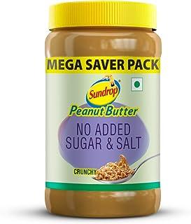 Sundrop Peanut Butter No Added Sugar and Salt Crunchy Jar, 924g