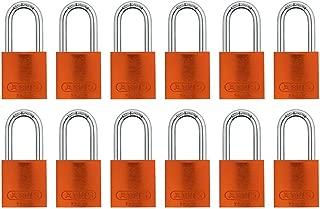 ABUS 72/40 Aluminum Safety Padlock Orange Keyed Alike - Long Shackle (1-1/2