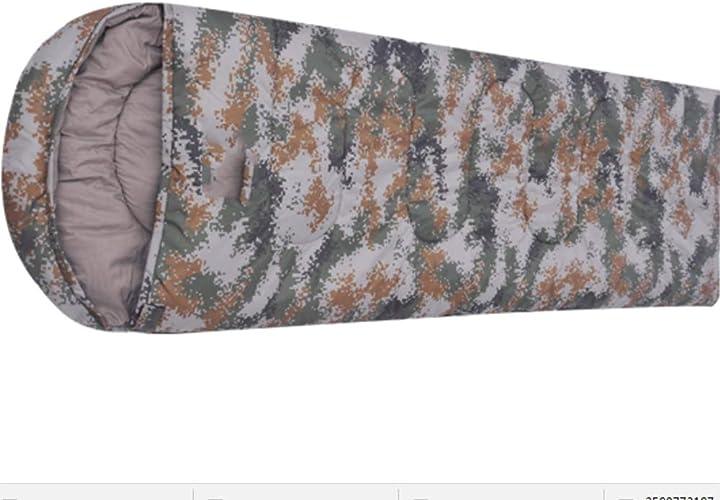 Sweety Sac de Couchage Type d'enveloppe de Sac de Couchage Adulte Ultra léger Camouflage Camping matériel de Coton Creux de Sac de Couchage Camping Sac de Couchage 2 20  75cm