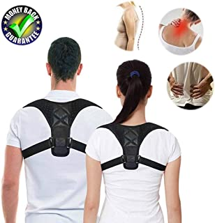 Unisex Back Posture Corrector for Women and Men Adjustable Posture Correction Back Brace Belt Support Pain Relief for Neck...