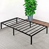 OmiNight Twin XL Bed Frame , Heavy Duty 14 inches high Twin XL Bed Platform Bed No Box Spring Needed Twin XL Size Metal Bed Frame with Storage Easy Assembly Steel Slat Support Noise Free, Black TXL