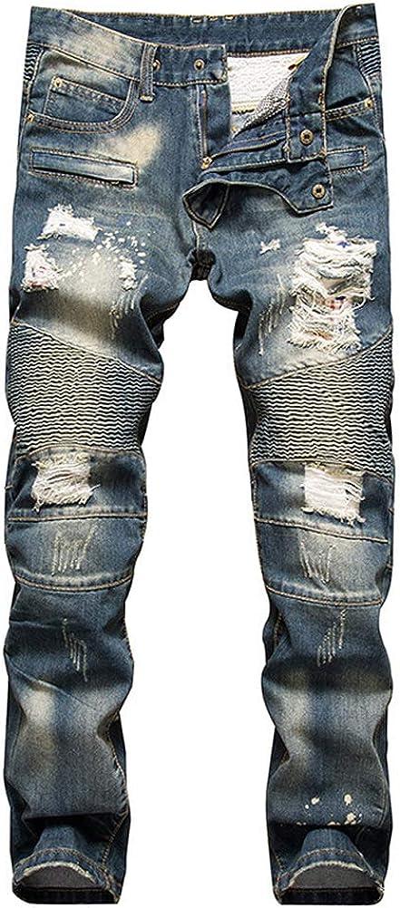 Max 42% OFF IDEALSANXUN Max 81% OFF Men's Ripped Biker Skinny Slim Junior Str Jeans