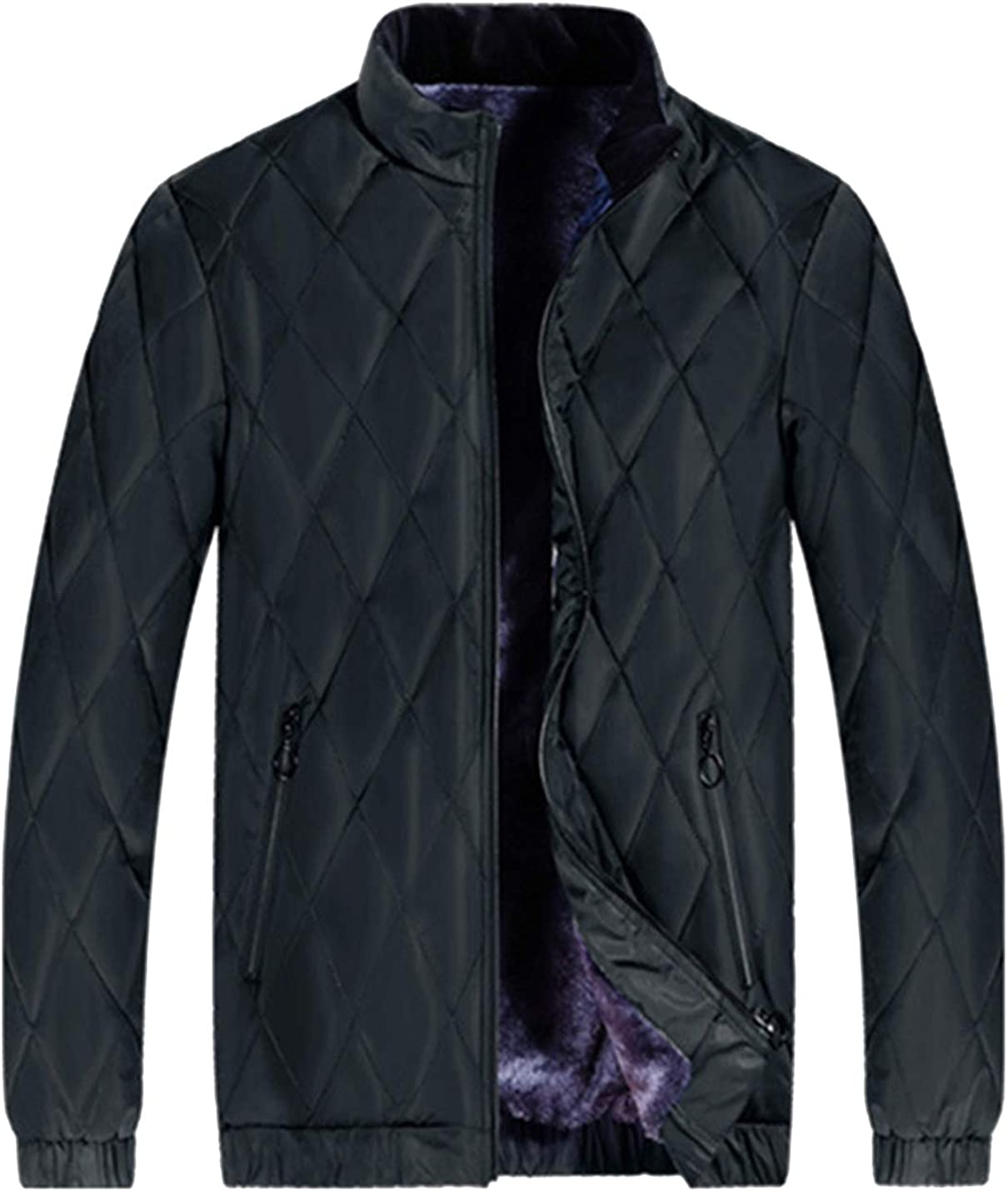 HaoMay Men's Comfy Full Zip Tampa Mall Fleece Gifts Jacket Outwear Lined Winter