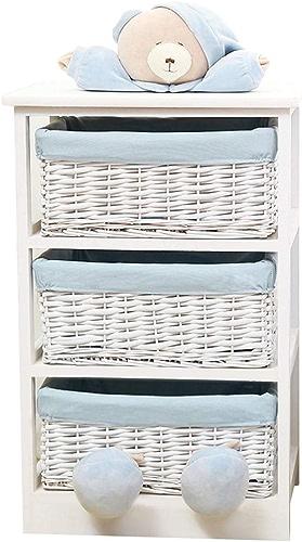 SYFO Armoire de Rangement en rougein pour Le Stockage des débris des Enfants, Design des tiroirs, gris Bleu (Couleur   bleu, Taille   H70cm)