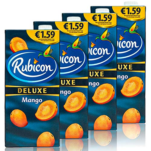 Rubicon - 4er Pack Deluxe Mango Drink Saft in 1 Liter Packung - Premium Mangosaft Juice