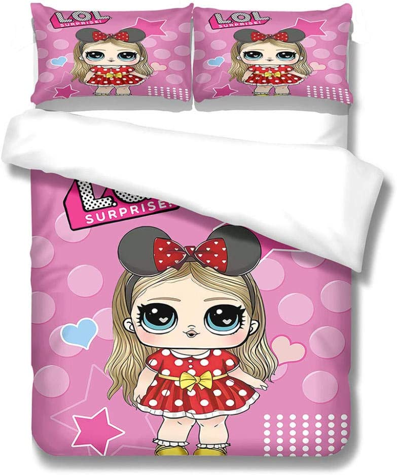 MENGBB Bedding Sheets Pillowcases Full Popular overseas Size St 86X90 online shop Girl Inch