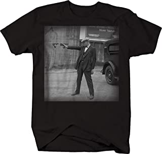 American Gangster in Suit Vintage 1920's 1930's Gun Mobster T Shirt for Men