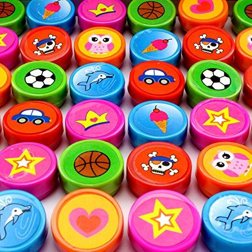 20x Kinderstempel Bunt Stempel Mitgebsel 10 Motive Kindergeburtstag Tombola