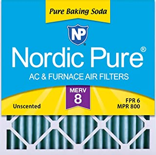 Nordic Pure 18x18x2 Pure Baking Soda Odor Deodorizing AC Furnace Air Filters, 3 PACK, 3