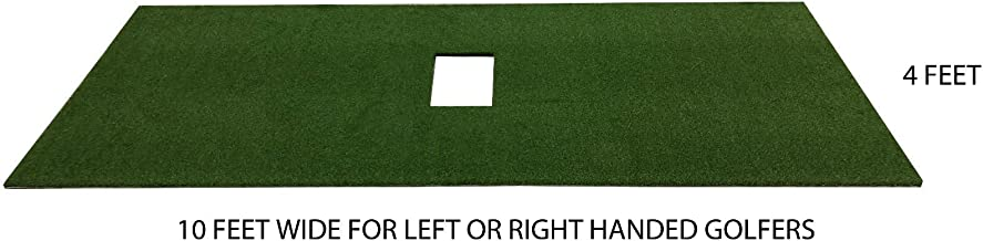 PREMIUM PRO TURF 4' x 10' Golf Mat for Optishot Simulator for Right and Left Handed Golfers- Also Holds a Wooden tee