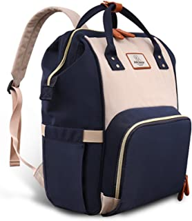 Pipi bear Nappy Changing Backpack, Multi-Functional Waterproof Baby Diaper Bags for Mom and Dad,Stylish and Durable Travel...