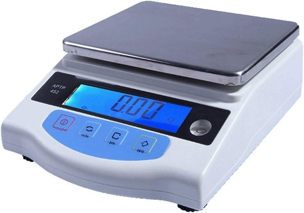 LHHL Báscula plataforma electrónica portátil Balanzas analíticas laboratorio 2kg/0.01g Alta precisión para Cocina Industrial Colegio con Pantalla LCD Peladura Contar Cero Función (Size : 600g/0.01g)