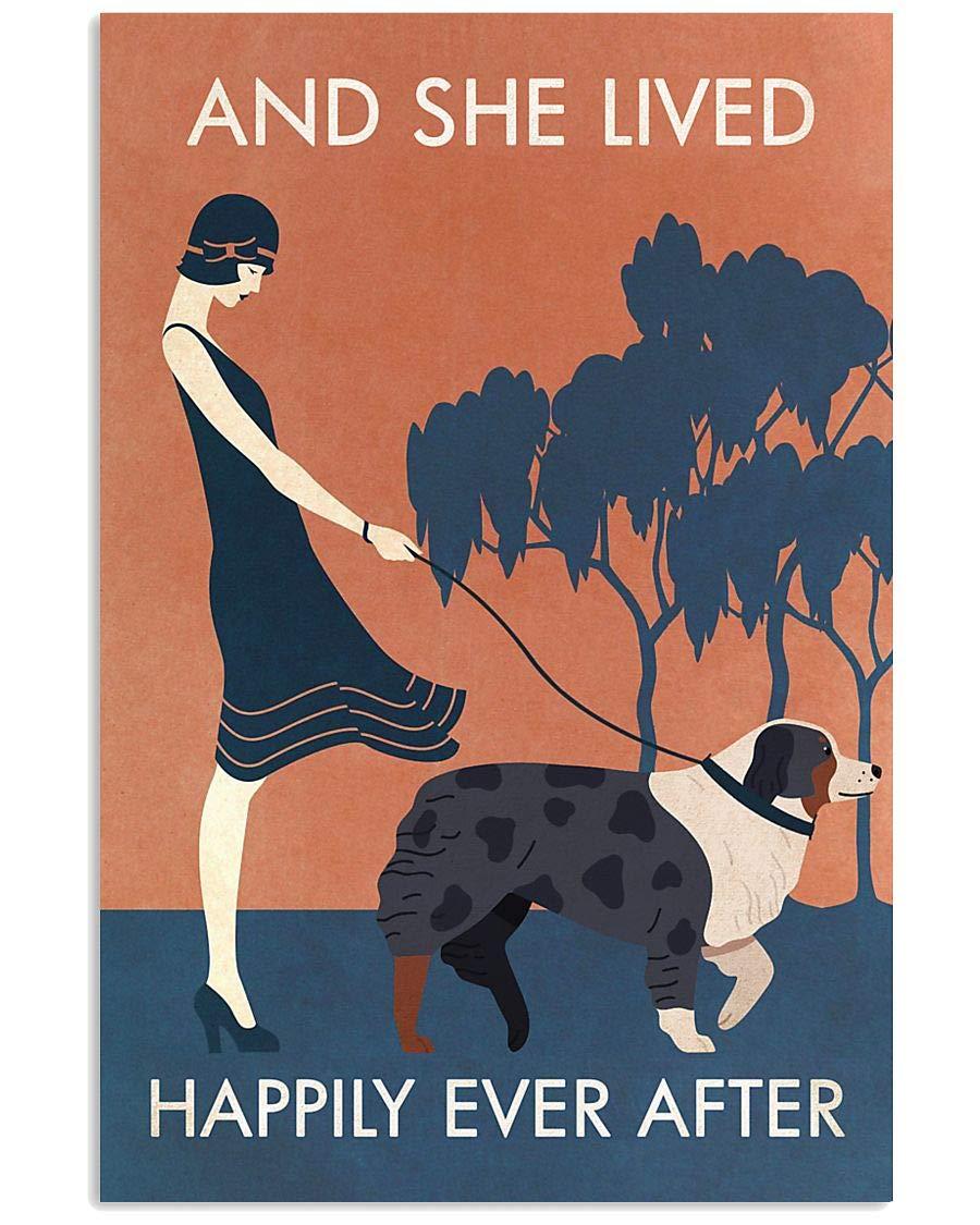 Vintage Tulsa Mall She Lived Happily Australian Decor Poster Shepherd Popular popular Wall