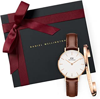 Daniel Wellington Gift Set Classic Petite St Mawes White Watch Rose Gold 28mm+ Bracelet RG Small