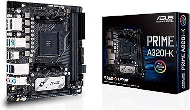 Asus Prime A320I-K AMD Ryzen AM4 DDR4 M.2 DP HDMI Mini ITX (Mitx) A320 Motherboard with Gigabit LAN, USB 3.1 Gen1