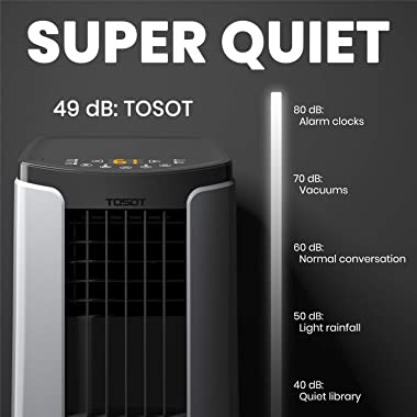 TOSOT 8,000 BTU Portable Air Conditioner Quiet, Remote Control, Built-in Dehumidifier, Fan - Cool Rooms Up to 300 Square Feet