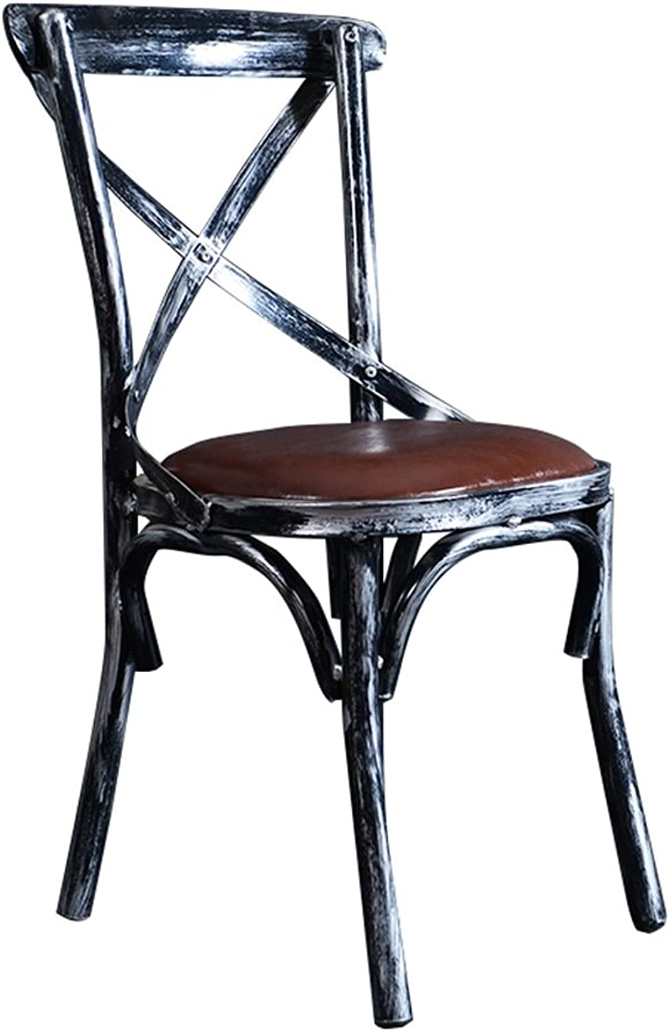 Vintage Barstools Metal Iron for Kitchens Bar as Dining Chair Breakfast Stool Retro High Stools as Bar Stools Indoor Outdoor Leisure PU Seat Shabby Industrial Design (color   Vintage Silver Bracket)
