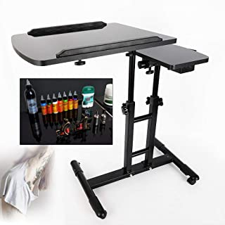 $59 » Sponsored Ad - CNCEST Portable Mobile Adjustable Tattoo Work Station Arm Rest Stand Desk Table Workbench 65-97cm66cm