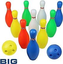 Bolos Infantiles - Juego de Bolos con 10 Bolos y 2 Bolas Colores Interior y Exterior Juguete para Niños 3 4 5 6 Años (Super Gran Tamaño?Altura: 23,5CM