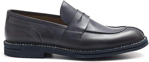 J. WILTON - Blau Hand Waxed Leather J. Wilton Mocassins - 989 5033VENICE Washed Blau