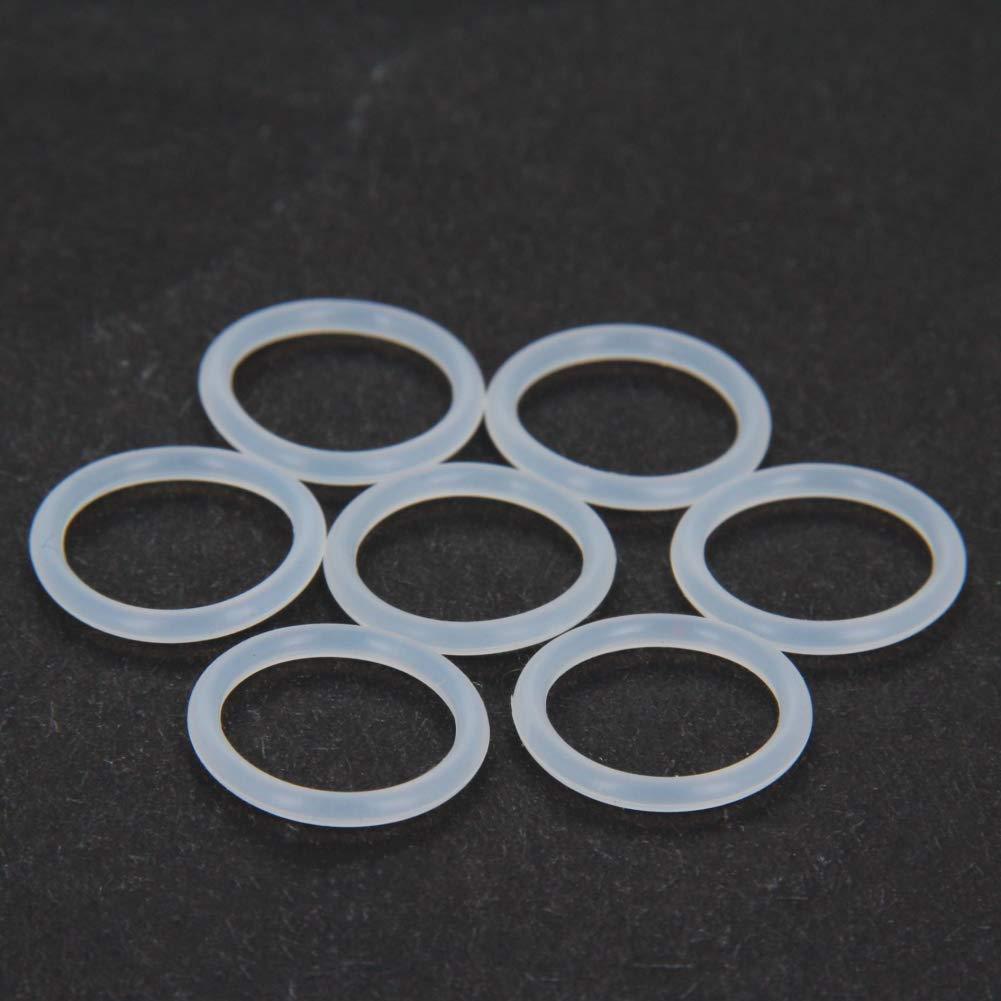 Othmro 2mm Wire Diameter White Gasket Silica Gel Sealing Washer 12mm Inner Diameter x 16mm Outer Diameter 20pcs
