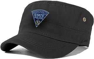 Onlybabycare Massachusetts State Police Logo Adult Trucker Cap Hat